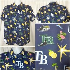 TAMPA BAY DEVIL RAYS HAWAIIAN SHIRT  size medium
