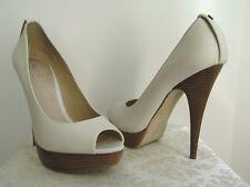 ALDO - Peep Toe Leather Pump Heels Platform Ivory 39 (US8.5)
