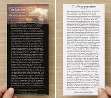 THE RESURRECTION - Topical Bible Bookmark (5 Mil Heat-Sealed Laminated!)