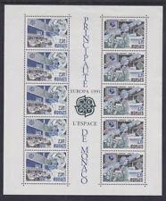 Monaco 1991 Mint MNH Minisheet Principality Europa Europe in Space Satellites