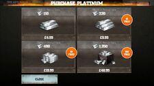 WWE IMMORTALI-Aggiungi le barre di platino 10000 10K-ANDROID iOS a carattere Platino