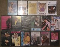 LOT OF 17 DIFFERENT ROD STEWART CASSETTE TAPES WIDE-EYED GIRL ATLANTIC CROSSING
