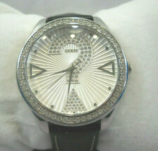 Guess ? Celebrating 20 Years Of Time Woman's Wrist Watch Crystal Leather Band