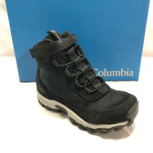 Columbia Unisex-Child Little Kids Flow Borough Mid Hiking Shoe, Black