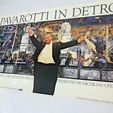 Pavarotti In Detroit Vintage Poster Diego Rivera Joe Louis Arena 1988 Michigan