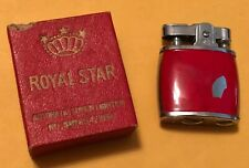 Vintage 1956 Beautiful Royal Star Japan Made Collectible Super Atom Red Lighter