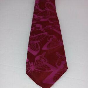 PAUL SMITH Men's Silk Necktie ITALY Luxury BUTTERFLIES