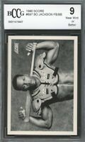 1990 Score #697 Bo Jackson football/baseball Card BGS BCCG 9 Near Mint+