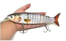 Silver BIG BAIT 232mm Multi Jointed Fishing Lure Swimbait Bait pike UK 1ST