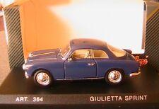 ALFA ROMEO GIULIETTA SPRINT 1958 SPYDER DETAILCARS 201 1/43 COUPE ITALIA ITALIE