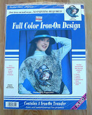 """New listing Full Color Iron-On Design ~ """"1930's Lady"""" ~ For A Hand Painted Look - Un-opened"""