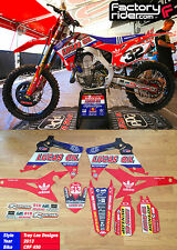 2014 - 17  HONDA CRF 250 LUCAS OIL TROY LEE DESIGNS GRAPHICS MADE BY ENJOY MFG