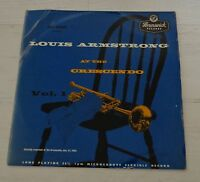Luis Armstrong UK Original LP At The Crescendo Brunswick Jazz LP Vinyl