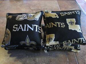 Cornhole Corn Toss Bags New Orleans Saint NFL Set of 8 Canvas Duck Free Shipping