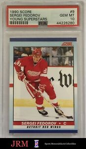 1990 Score Young Superstars Sergei Fedorov ROOKIE RC #9 PSA 10 GEM MINT
