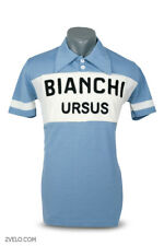 Bianchi Ursus vintage style wool jersey, chainstitch, maglia, maillot M size