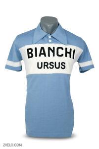 Bianchi Ursus vintage style wool jersey, chainstitch, maglia, maillot XXL size