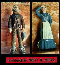 Schleich Wild West Cowboy Settler Pioneer Family lot Father & Mother 70311 70312