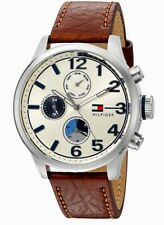 ★ Tommy Hilfiger Jackson Brown Leather Men's Watch Model: 1791239 ★