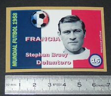 FRANCE STEPHANE BRUEY SCO ANGERS COUPE MONDE FOOTBALL 1958 STYLE PANINI