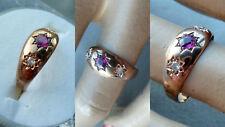 Prjk Antik señora anillo rubin diamantes 585 oro banda forma expertise Lemgo