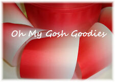 """3"""" *Basic* Red Ombre Cheer Grosgrain Ribbon Football For Tic Toc Bow"""