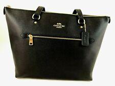 New Authentic Coach F79608 Gallery Tote Handbag Purse Crossgrain Leather Black