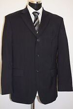 MS202 MARKS &SPENCER MEN'S NAVY STRIPED WOOL BLEND 2PC SUIT CHEST 40S W36  L29