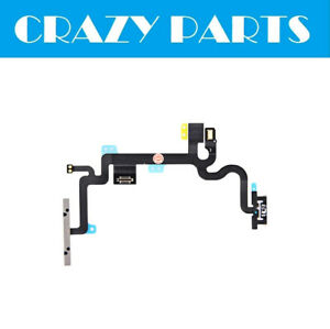 Power Volume Mute On Off Button Switch Key Flex Cable For iPhone 7 8 Plus 6S 12