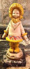 Vintage Depose Inuit Eskimo Child Fontanini #604 Italy Figurine Carara Marble Ba