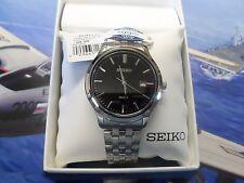 SEIKO  5 SUR145  Black Dial Stainless Steel SEIKO Quartz SUR145-NEW
