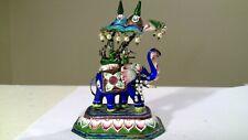 Sterling silver enamel elephant figurine