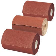 Abrasive Aluminium Oxide Rolls 60 80 & 120 Grit Sandpaper Sheet Sanders 5 Metres