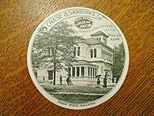 1893 Columbian Worlds Fair trade card-Chase & Sanborn disc-TEXAS STATE BUILDING