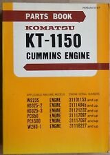 Komatsu Cummins Motor KT 1150 Ersatzteilkatalog
