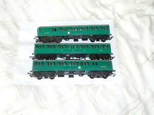 TRIANG MODEL RAILWAYS OO GAUGE 3 CAR SR EMU POWER CAR CENTRT COACH & DUMMY IWO