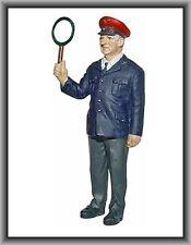 Dingler Zinnfigur handbemalt - Aufsichtsbeamter 60er Jahre DB in 1:32 (100205)