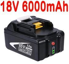 For Makita 18V 6.0AH BL1860 BL1850 BL1840 BL1830 BL1815 Battery with Fuel Gauge