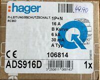 Hager FI Fehlerstromschutzschalter ADS 916D - 16A - 30mA