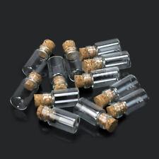 10Pcs Mini Glass Bottle/Jars/Vials With Cork Stopper Size 1.1x1.1x2.7cm wh2n