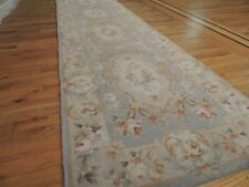 2x12  3x12  French Savonnerie Runner Floral Area Rug BLUE pink beige Aubusson