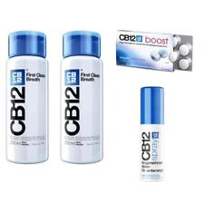 CB12 Spüllösung 2x250ml und CB12 boost Kaugummi 10St und CB12 Spray 15ml
