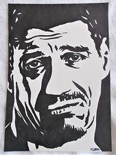A4 Bolígrafo Marcador De Arte Dibujo luchador Eddie Guerrero Cartel