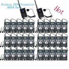 Wireless Simultaneous Interpretation Meeting System 2XFM Transmitter+30XFM Radio
