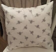 """NEW Clarke & Clarke Buzzy Bees Fabric Vintage Shabby Chic 16"""" Cushion Cover"""