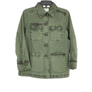 Caslon Nordstrom Womens Green Utility Jacket Layer NEW Size XXS P Petite NEW