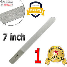 """Double Sided Nail File 7"""" Diamond Deb Rough Surface Straight File Manicure Tool"""