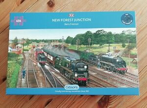 Gibsons 'New Forest Junction' 636 Piece Steam Locomotive Jigsaw Puzzle