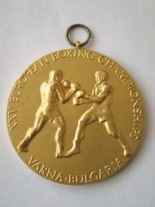 GOLD Sport Medal 1st place XXV EUROPIAN BOXING Championships, VARNA 1983