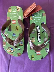 Minecraft havaianas Flip Flops Sandas